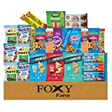 Foxy Fane 25 count Premium Healthy Care Package - Ultimate Gift Snack Box with Variety Assortment of Nuts, Crackers, Bars & more - Bulk Bundle of Delicious Treats (25 Snacks)