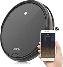 Robot Vacuum, Aiper Robotic Vacuum Cleaner 1800Pa Strong Suction, 2.6inch Super Thin, Wi-Fi Connectivity, Compatible with Alexa, Self-Charging Robot Vacuum Cleaner for Pet Hair, Carpets, Hard Floors