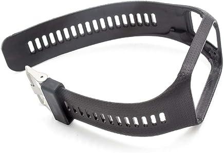 vhbw Armband für Tomtom Runner 2, Runner 3, Spark, Spark 3, Adventure, Golfer 2 GPS-Uhr, Wechselarmband, schwarz