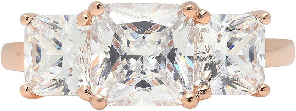 Clara Pucci 3.35 Square Emerald Baguette Virginia Beach Mall 3 Latest item Solitaire cut stone A