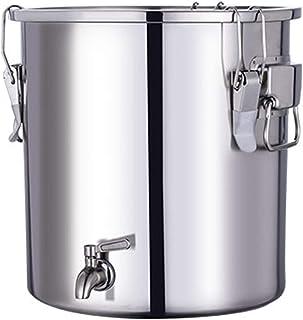 Electric oven Fermenteur de Seau d'acier Inoxydable 304, Bière de vin de Brassage à la Maison Faisant Le Tambour, Baril de...