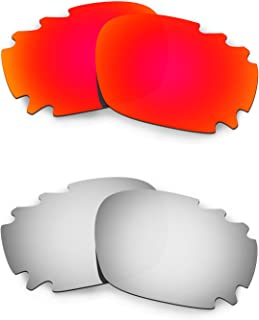 Hkuco Mens Replacement Lenses For Oakley Racing Jacket Vented - 2 Pair
