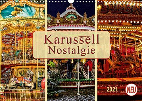 Karussell - Nostalgie (Wandkalender 2021 DIN A3 quer)