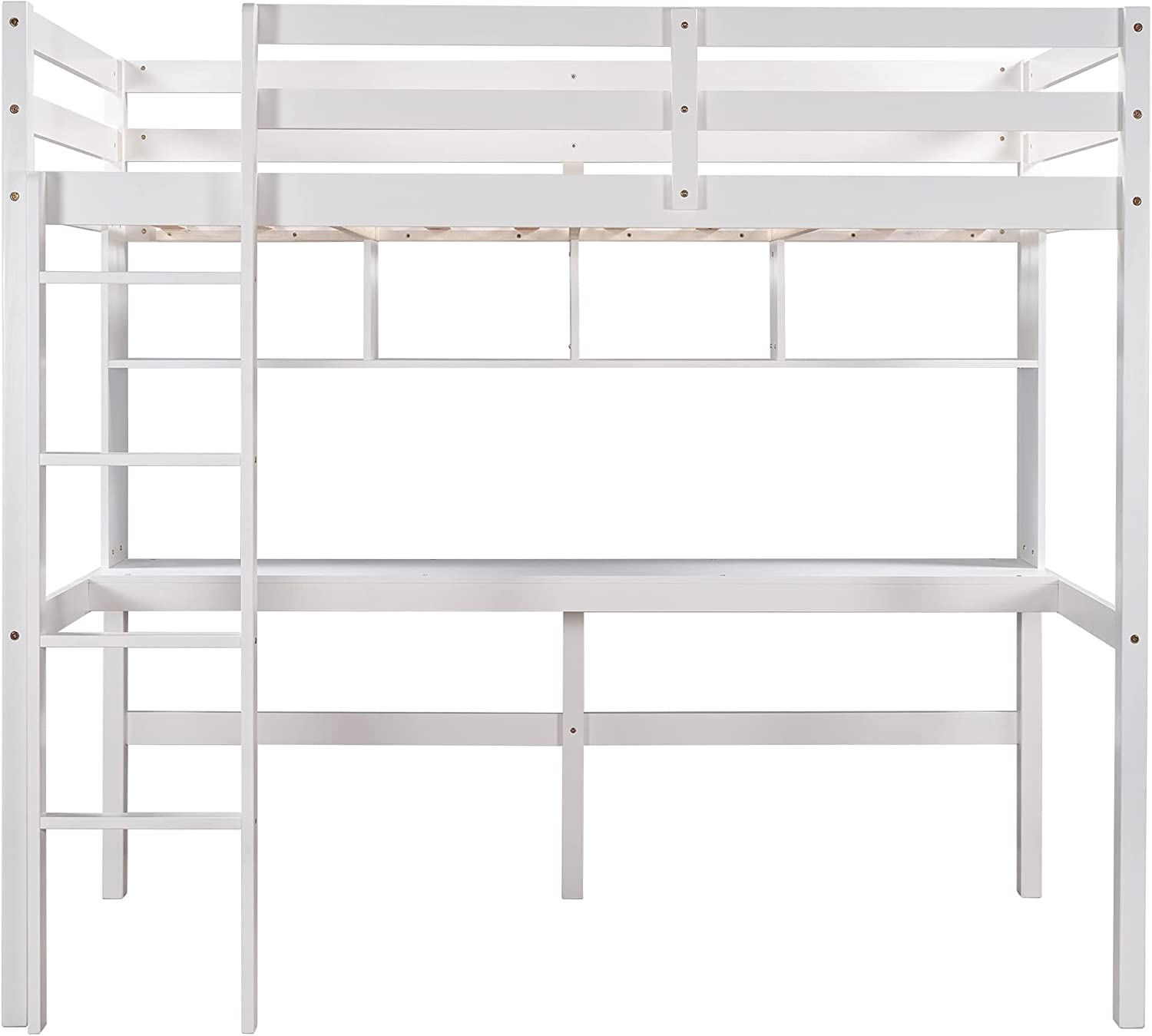 Twin Size Loft Bed with Ranking TOP20 Convenient Dealing full price reduction Desk Ladder Shelves Wh and