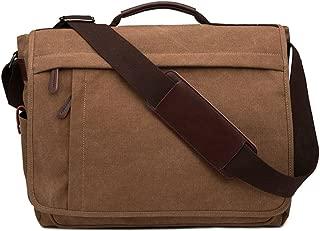Neumora Practical Design Men's Canvas Shoulder Messenger Bag Casual Laptop Cross-Body Sling Bag Satchel Bag for 15.6 inch Laptop Large Size