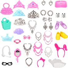 40pcs//lot Jewelry Necklace Earring Comb Shoes Crown Accessory   Dolls M@M