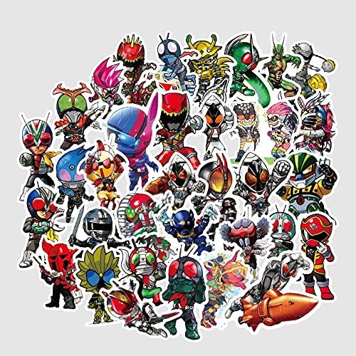 BUCUO Kamen Rider Niman Pegatina Dibujos Animados Anime Maleta portátil Maleta Pegatina 50 Piezas