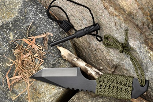 SE Outdoor Tanto Knife with Firestarter - KHK6320-FFP 5