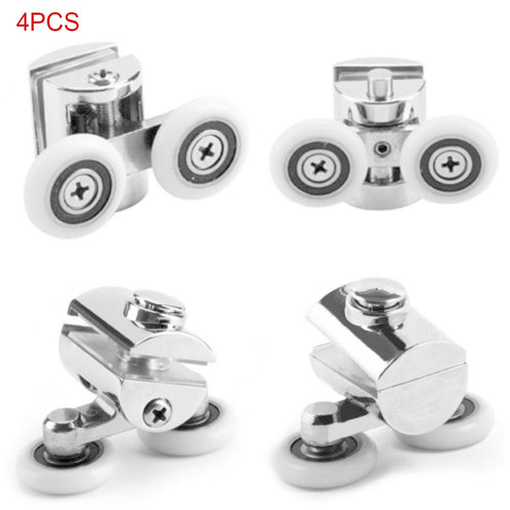 4 ruedas para mampara de ducha, ruedas de aleación de zinc, rodamiento inferior doble para cabinas de vapor de ducha, As Picture Show, 4 piezas: Amazon.es: Hogar