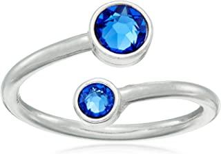 Wrap Birth Month Adjustable Ring, Size 5-7