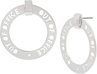 OUT OF OFFICE Affirmation Cut-Out Gypsy Hoop Earrings