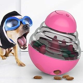 JIMACRO Juguetes para Perros, Alimentador de Comida para Perros, Bola de Tratamiento IQ Rompecabezas Juguetes Interactivos Educativos Dispensadora de Comida con Ajuste para Mascotas Perros (Red)