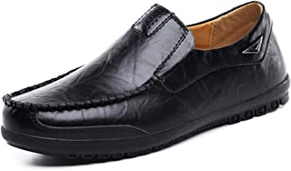 MOHEM Mens Casual Slip On Loafers Shoes Premium Genuine Leather Fashion Slipper Driving Shoes