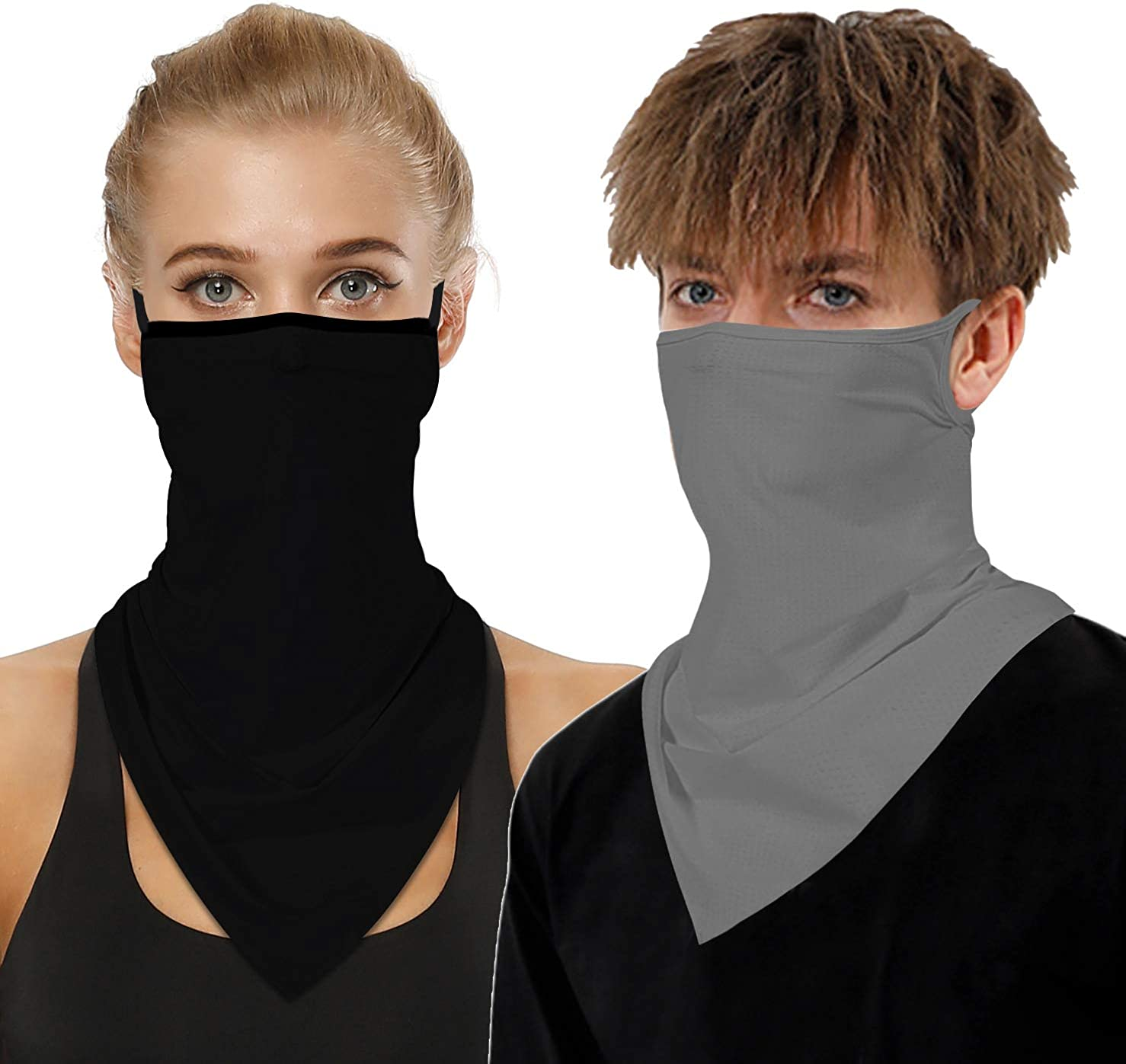 2 Don't miss the campaign PCS Neck Gaiter Face Mask with Ba Loops Washable Portland Mall Women Ear Men