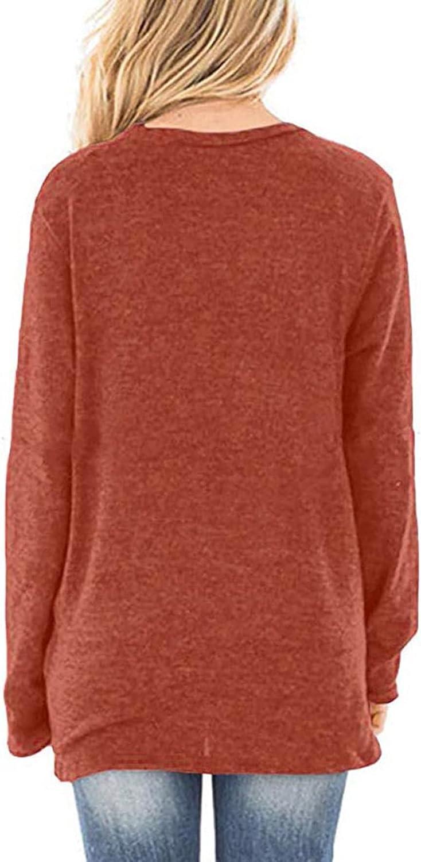 TARIENDY Blouses for Women Fashion 2021 Tshirt Long Sleeve Tops Hem Drawstring Tees Ladies Crewneck Sweatshirt