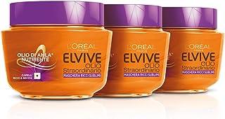 Elvive L'Oréal Paris Elvive Maschera Idratante per Capelli Ricci o Mossi Olio Straordinario Ricci Sublimi, 300 ml
