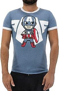 Tokidoki Marvel Captain America Emblem Men's T-Shirt