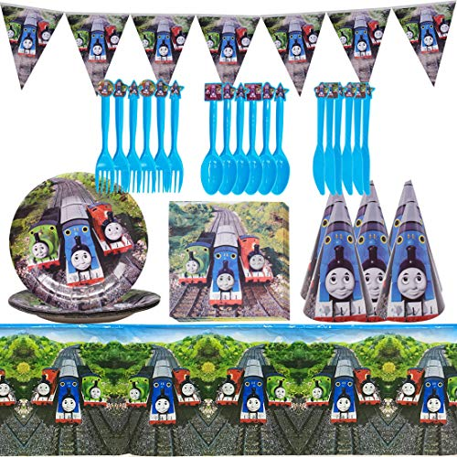 Miotlsy - Forniture per Feste Set da 8 Pezzi Decorazioni Feste, Decorazione di Compleanno Festa a tema Thomas, Include...