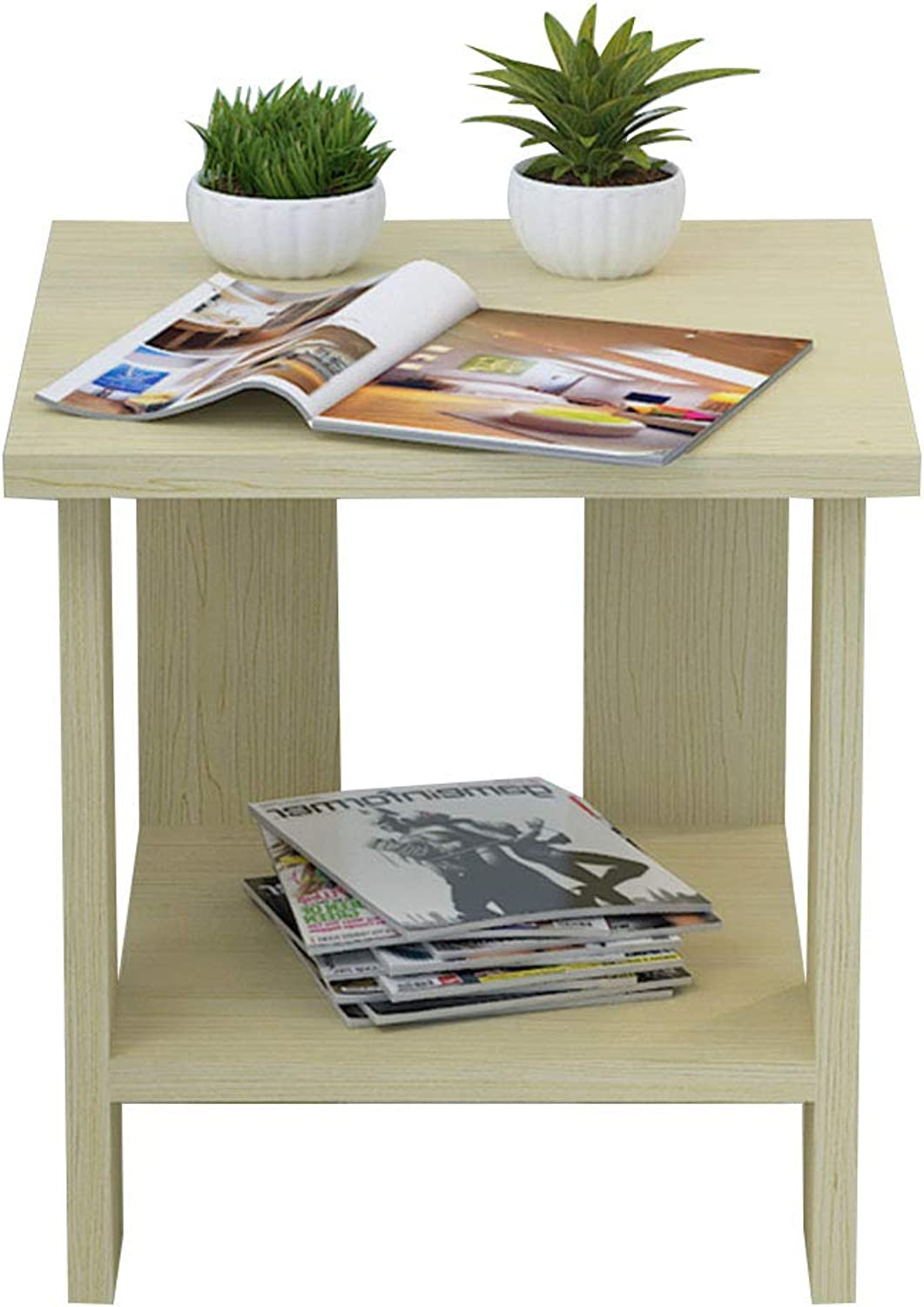 Coffee Table Square Table, Modern Simplicity Small Apartment Coffee Table, Side Table, Suitable for Living Room Sofa Side Bedroom Bedside (Size   40  40  42cm)