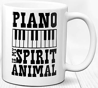 Piano Keys Taza de café Regalo de cumpleaños Músico amante del piano 330 ml Cita de pianista