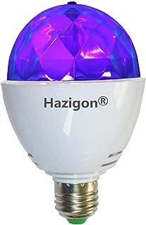 Hazigon LED Blacklight Bulb UV Stage Light 3W E26 Ultraviolet Rotating Bulbs Used for DJ KTV Party Pub Club Disco Ball