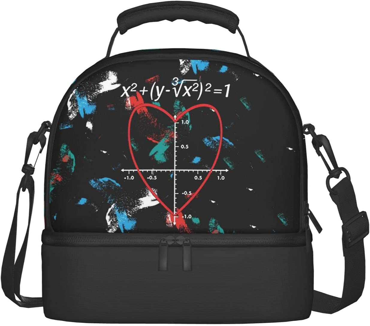 Love Heart Inexpensive Equation Ranking TOP10 Lunch Bag Adjustable Strap Insulate Shoulder