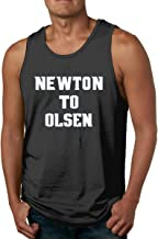 Men's Sleeveless Tank Top Shirts Blue Carolina Newton to Olsen Cotton Gym Vest Casual Sport T-Shirts