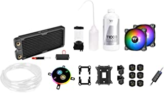 Thermaltake Pacific C240 Ddc Res/Pump 5V Motherboard Sync Copper Radiator Soft Tube Water Cooling Kit CL-W249-CU12SW-A, 24...