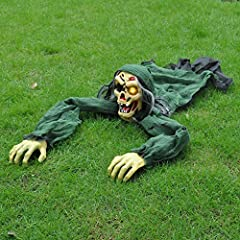 It's time to surprise trick-or-treaters with JOYIN Climbing Zombie Groundbreaker! Bring spooky fun to your Halloween party with this great detailed undead animated Halloween zombie appears to be breaking through the ground in your yard to set the per...