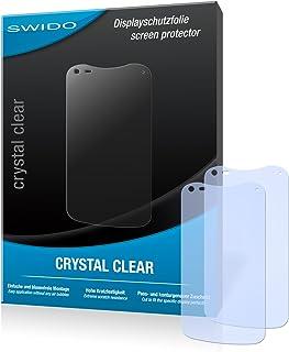 SWIDO Y060150 kristallklar hård beläggning skärmskydd för Acer Liquid E2/E-2 (2-pack)