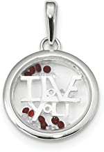 925 Sterling Silver I Love You Floating Glass Beads Pendant Charm Necklace Talking S/love Message Fine Jewelry Gifts For Women For Her