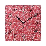 Jacque Dusk Reloj de Pared Moderno,Feliz Navidad Muñeco de