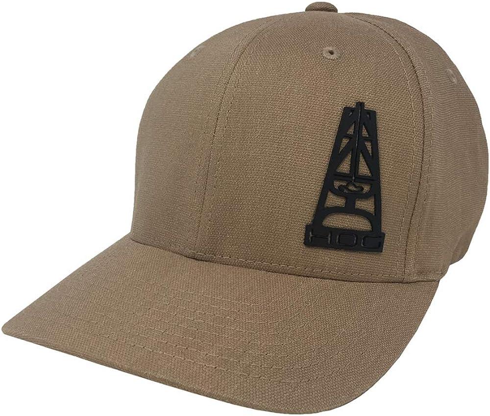 HOOEY Hog Bum Tan/Black Flexfit Hat (Small/Medium)
