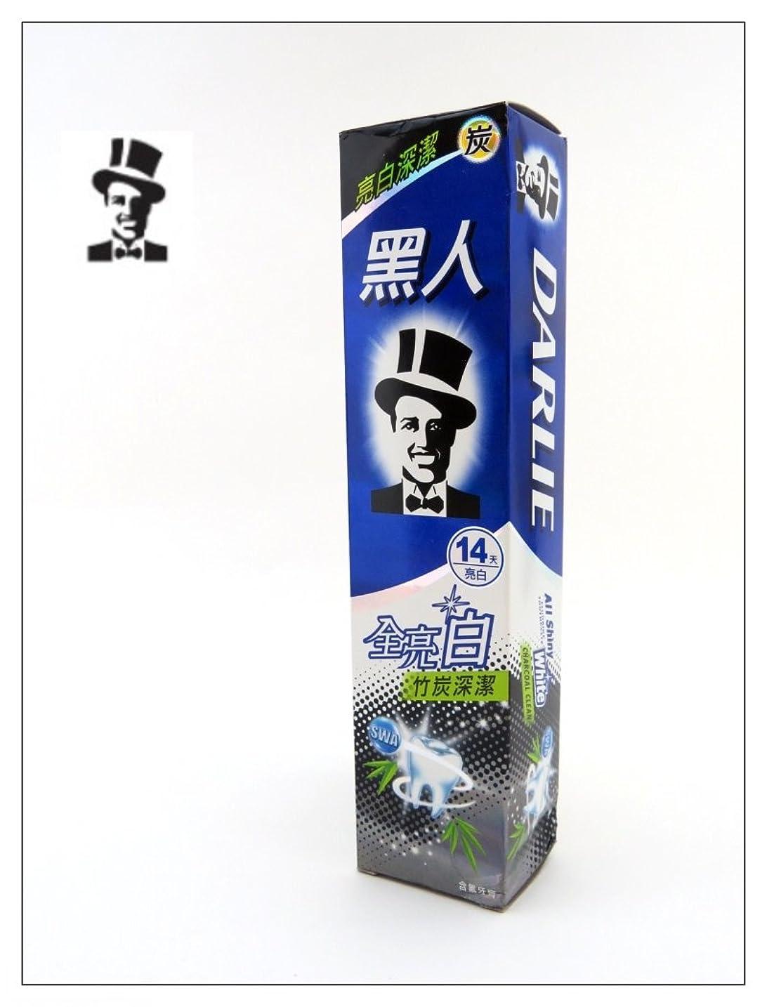 酒買収確立します黒人 歯磨き 全亮白竹炭深潔 140g 台湾製