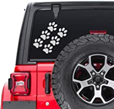 ReplaceMyParts Animal Dog Cat Paw Print - Car Auto Window Vinyl Decal Sticker fits Offroading 4x4 YJ TJ JK Car Truck SUV - 7.5 Inch