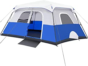 Camping Tent, 8/10 Person Instant Cabin Tent, Easy Setup in 60 Seconds, Weatherproof Family Tent for Camping, Outdoors & T...