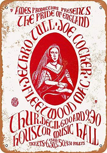 MiMiTee Jethro Tul in Houston Blechschild Vintage Metall Warnschilder Eisen Art Plaque hängen Poster Auto Promi Hof Garten Cafe Bar Pub öffentliches Geschenk