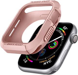 Rugged Armor Designed for Apple Watch Case for 44mm Series 6/SE/5/4 - Rose Gold