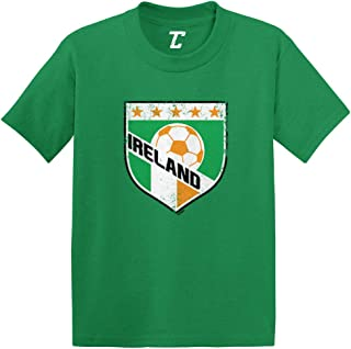 Ireland Soccer - Distressed Badge Infant/Toddler Cotton Jersey T-Shirt