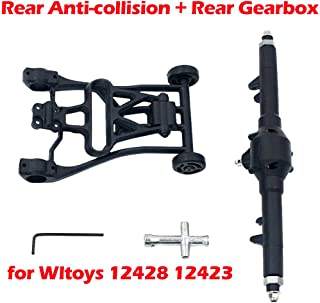 Rc Car Part, Spare Parts Rear Anti-Collision + Gearbox for Wltoys 12428 12423 Upgrade and Modification Metal Gear Rear Gearbox Assembly Tire Wrench Anti-Collision