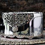 Gflyme Oval Retro europäischen Stil koreanische Prinzessin Metal Jewelry Box Hand Schmuck Storage Box Schmuck-Ring-Kasten-Geschenk