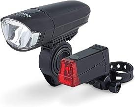 DANSI LED Fahrrad-Batterieleuchtenset, StVZO, schwarz, 44001