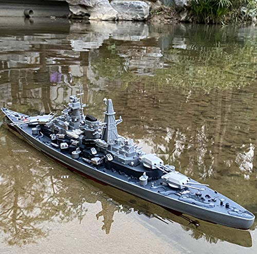1:360 Scale Remote Controlled Warship Battleship Rc Ship 20-25km/h On Water Lakes Pools Exhibits Models for Boys Children 28' Inch