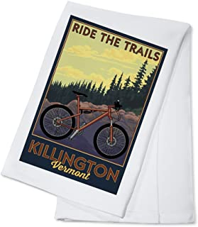 Killington, Vermont - Ride the Trails - Mountain Bike Scene (#2) (100% Cotton Kitchen Towel)