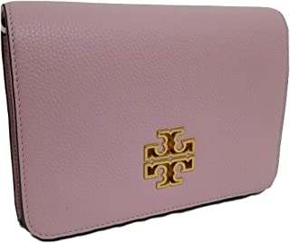 Tory Burch Britten Leather Combo Crossbody Bag (Surprise Lily)