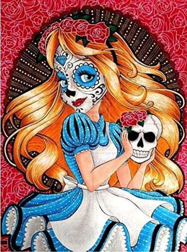 AlicestDiamant peintures 5D série de Dessins animés Princesse Diamant Motif Perlage 3D Bricolage Photos Couture Conte de fées Diamant mosaïque Artisanat -16x20pouce/40x50CM-86