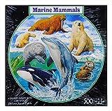 N / A James Hamilton 5011 - Puzzle redondo (500 T, 48 cm de diámetro, diseño de delfín, ballena, oso polar, foca y león marino)