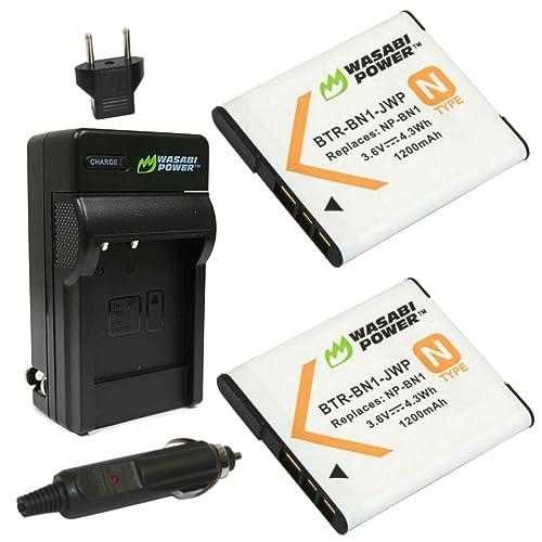 W730 Ladegerät für Sony Cyber-shot DSC-W710 W810 2 Akkus NP-BN1 W830