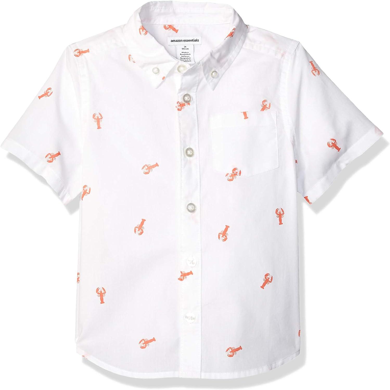 Amazon Essentials - Camisa de popelina/batista de manga corta para niño