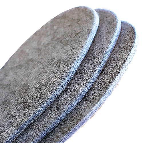 Wool Felt Warm Shoe Insoles - Wool Felt Boot Shoe Insert Insoles Men 7/Women 8